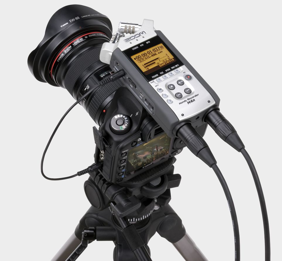 Use a Zoom H4n as an On-Camera DSLR Mic